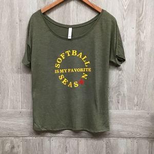 Softball Is My Favorite Season Flowy T-shirt BB290